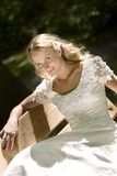 Bridal. Young pretty blond bridal portraits Royalty Free Stock Photo