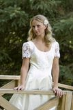 Bridal. Young pretty blond bridal portraits royalty free stock image