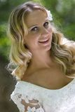 Bridal. Young pretty blond bridal portraits Stock Images