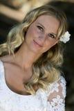 Bridal. Young pretty blond bridal portraits stock photo
