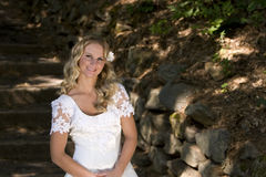 Bridal. Young pretty blond bridal portraits Stock Photography