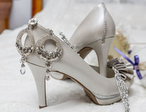 Bridal accessories. Supplements are a bride before marriage royalty free stock photography