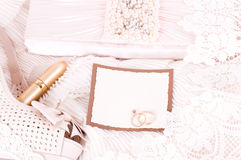 Bridal accessories and shoes Stock Images