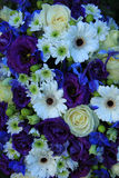 Bridal arrangement in blue and white Royalty Free Stock Images