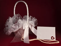 Bridal basket Stock Images