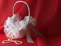 Bridal basket Royalty Free Stock Photo