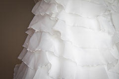 Bridal bodice detail. Detail from the bodice of a wedding dress Stock Images