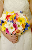 Bridal bouquet. The brides flowers at the wedding Royalty Free Stock Photo