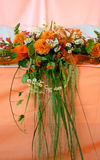 Bridal Bouquet. A bridal bouquet on a colorful background Royalty Free Stock Image