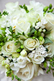 Bridal bouquet. Detail of bridal bouquet of white roses Royalty Free Stock Image