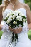 Bridal bouquet. Wedding bouquet in hands of the bride Royalty Free Stock Image
