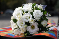 Bridal bouquet. Of white flowers, close-up Royalty Free Stock Photo