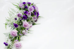 Bridal bouquet. A purple bridal bouqet from a norwegian wedding Royalty Free Stock Images
