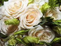 Bridal Bouquet. A beautiful bridal bouquet made of fresh roses Stock Image