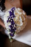 Wedding bouquet of artificial flowers stock photography