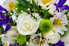 Bridal bouquet. As a background Stock Photo