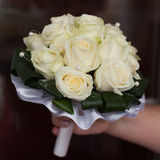 Bridal bouquet. Beautiful bouquet in hand of bride Royalty Free Stock Photography