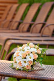 Bridal bouquet of beautiful Roses for a wedding Stock Images
