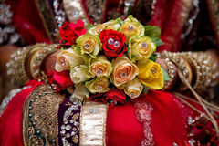 Bridal bouquet. Beautiful Wedding Bridal bouquet with crystal stone Royalty Free Stock Image