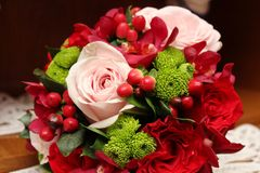 Bridal bouquet. S made with roses Stock Image