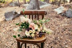 Bridal bouquet. The bride's bouquet. Beautiful bouquet of white, Stock Image