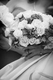 Bridal Bouquet with Bride's diamond ring Stock Photography