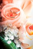 Bridal bouquet of cream roses Stock Photography