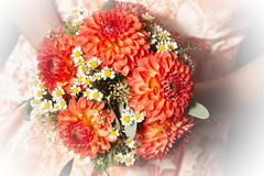 Bridal bouquet with dalias Stock Photos