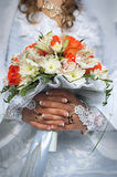 Bridal bouquet decorations Royalty Free Stock Photo