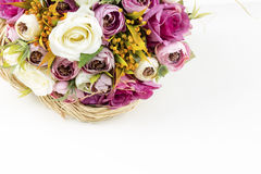 Bridal Bouquet. With different flowers Stock Photos