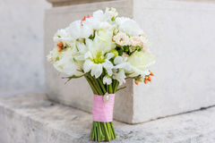 Bridal bouquet. Elegant bridal bouquet rounded shape Royalty Free Stock Photos