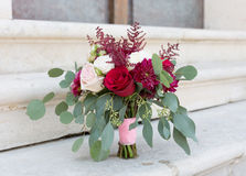 Bridal bouquet. Elegant bridal bouquet rounded shape Stock Photography