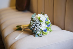 Bridal bouquet of flowers blue Royalty Free Stock Photo