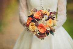 Bridal bouquet flowers closeup Stock Photos