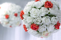 Bridal bouquet of flowers. In the shape of layer Royalty Free Stock Photos