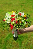 Bridal bouquet of freesia flowers Royalty Free Stock Photo