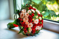 Bridal bouquet. Of fresh flowers royalty free stock photos