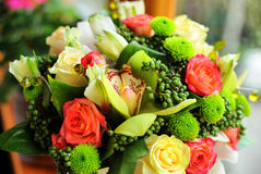 Bridal bouquet. Of fresh flowers Stock Image
