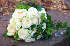 Bridal bouquet of fresh roses Stock Images