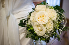 Bridal bouquet. In front of the bride Royalty Free Stock Photography