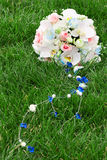 Bridal bouquet on the grass Stock Images