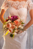 Bridal Bouquet in the groom hands Royalty Free Stock Image