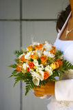Bridal Bouquet. Bridal with her Bouquet in Wedding Day Royalty Free Stock Photography