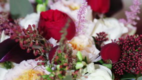 Bridal bouquet at home stock video