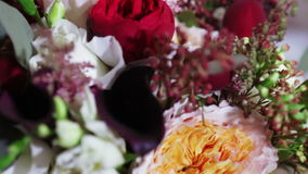 Bridal bouquet at home stock footage