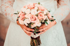 Free Bridal Bouquet In Delicate Colors Royalty Free Stock Image - 75076906