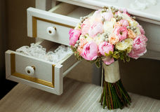 Bridal bouquet. In the interior Stock Images
