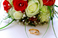 Bridal bouquet. Of love and fidelity Royalty Free Stock Photos
