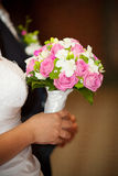 Bridal bouquet made ​​of pink roses Stock Image