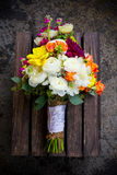 Bridal Bouquet Mixed Flowers Royalty Free Stock Photography